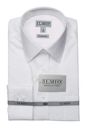 Ilmio Poly Cotton Silver Label Mens Shirt Chassidisch (Right Over Left) Slim Fit