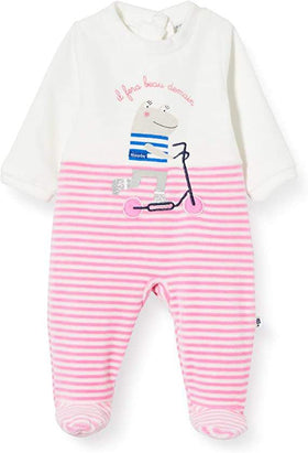 Absorba Pink Striped Sleepsuit Style: 7Q54381