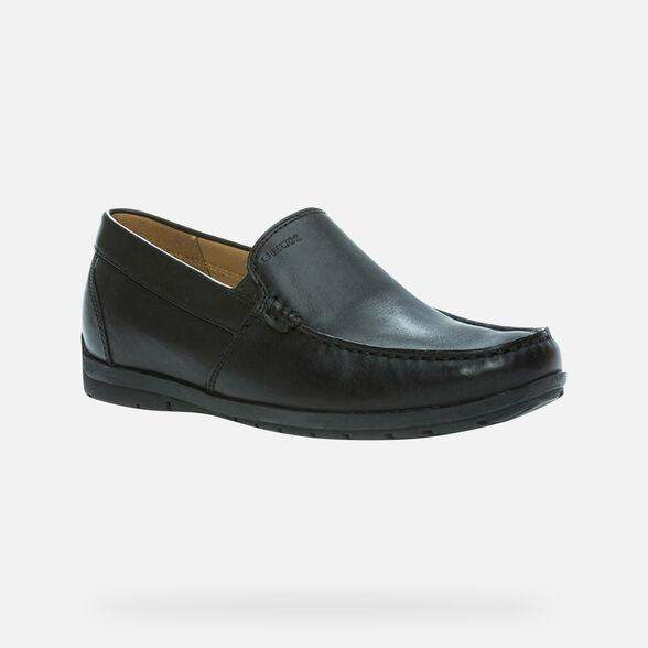 Geox Siron Mens Black Loafer Shoe Style: U34R1C