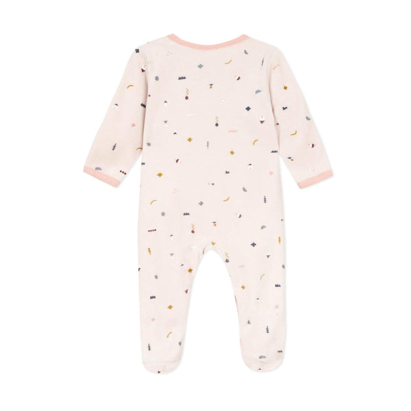 Absorba Girls Velour Sleepsuit with Front Opening
