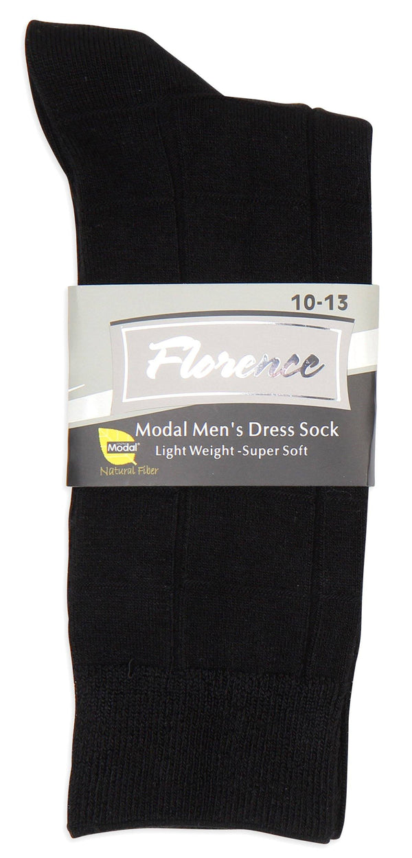Florence Modal Mens Plaid Dress Sock Style: 220