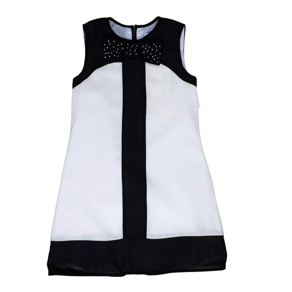 Roberta Di Roma Girls Black & White Jumper With Bow