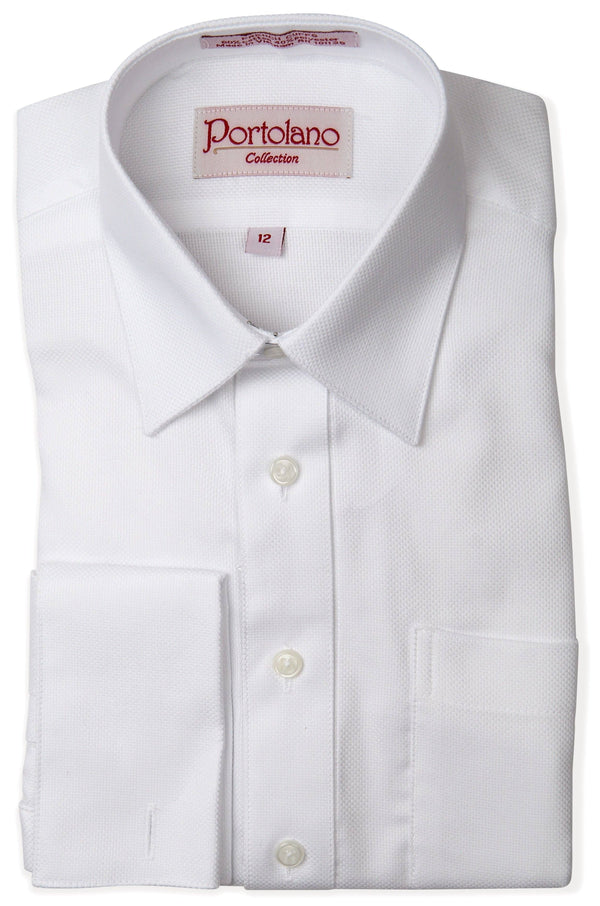 Portolano Boys Shirt French Cuff