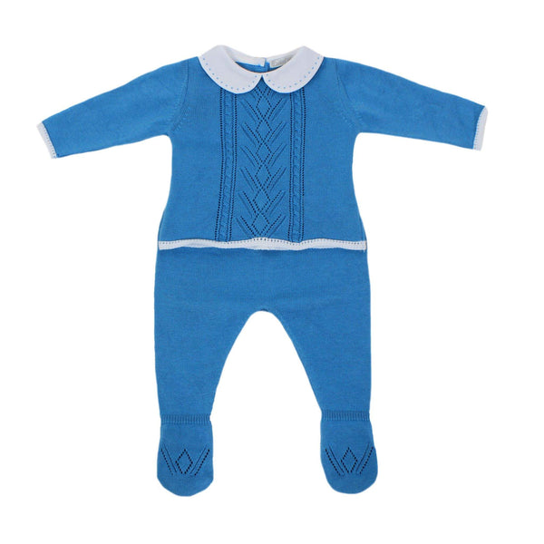 Dr. Kid Baby Boys Royal Blue 2Pc With White Collar