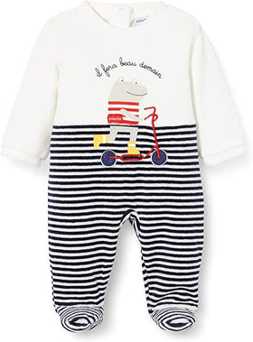 Absorba Navy Striped Sleepsuit Style: 7Q54381