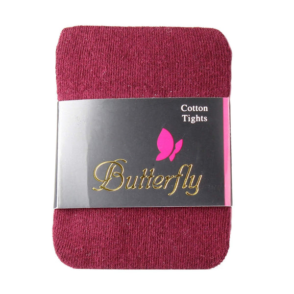 Butterfly Cotton-Spandex Girls Tights