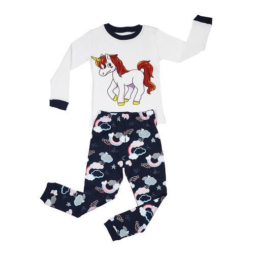 Elowel Unicorn Girl's 2 Piece Pajamas Set Cotton