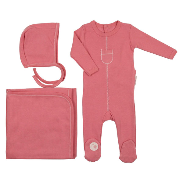 Charmant Tip Top Ribbed Set Mauve