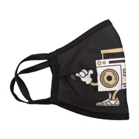 Custom-Designed DBG Boombox Polyester Mask  - 99% Antimicrobial Efficiency  - Made In The USA