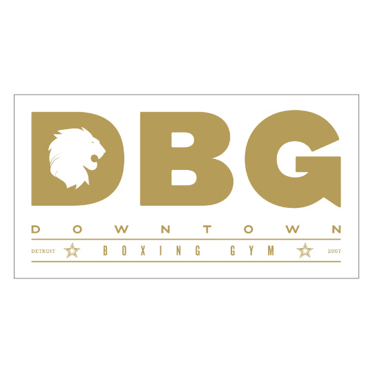 SM Gold DBG Logo sticker - Gold