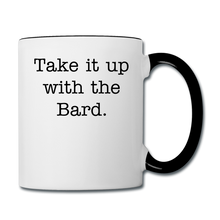 Load image into Gallery viewer, Shakespeare Contrast Coffee Mug - white/black