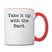 Load image into Gallery viewer, Shakespeare Contrast Coffee Mug - white/red