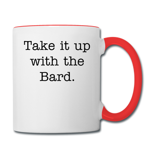 Shakespeare Contrast Coffee Mug - white/red