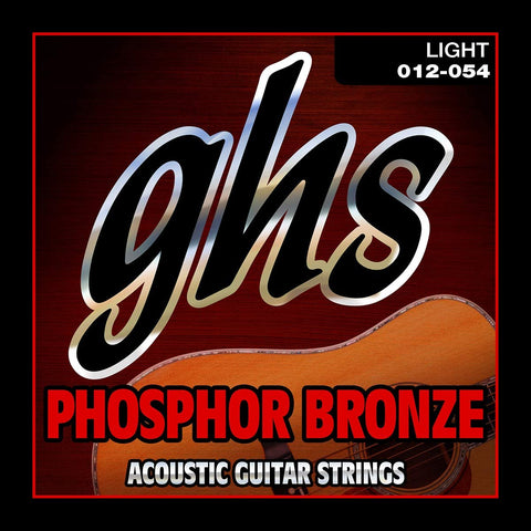 GHS Phosphor Bronze Acoustic Guitar Strings- Light - 012-054
