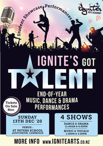 SINGLE SHOW TICKETS ONLY - 6pm  Ignite's Got Talent Dance and Drama Showcase