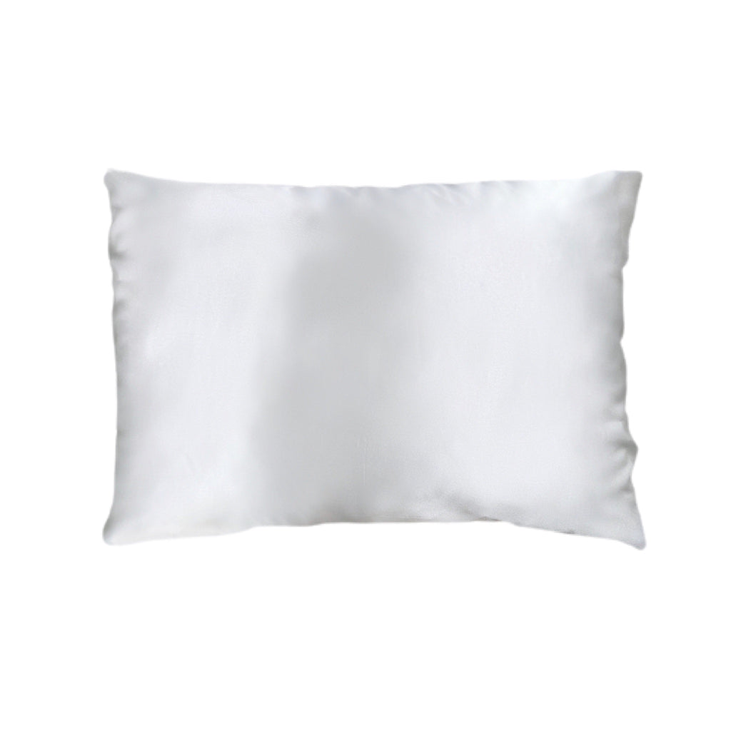 Queen Organic Silk Pillowcase - White
