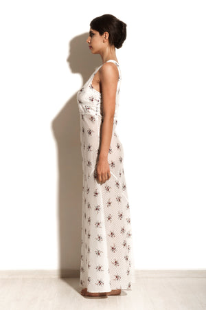 Maia - White Pekin Night Dress