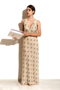 Maia - Beige Pekin Night Dress