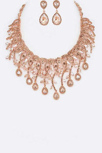RoseGold Peach necklace