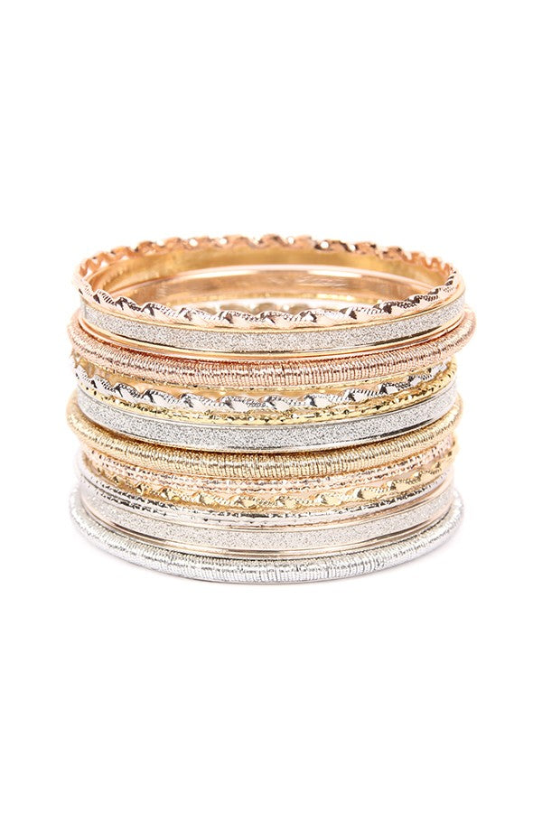 Embellished  bangle stacked bracelets