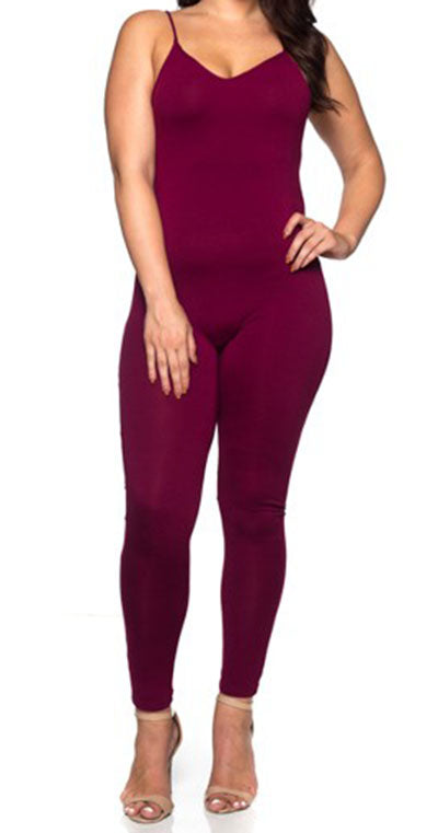 plus size cat suit Burgundy