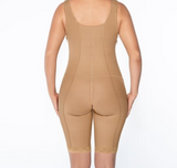 Power bodyshaper with thigh slimmer/ side zippers