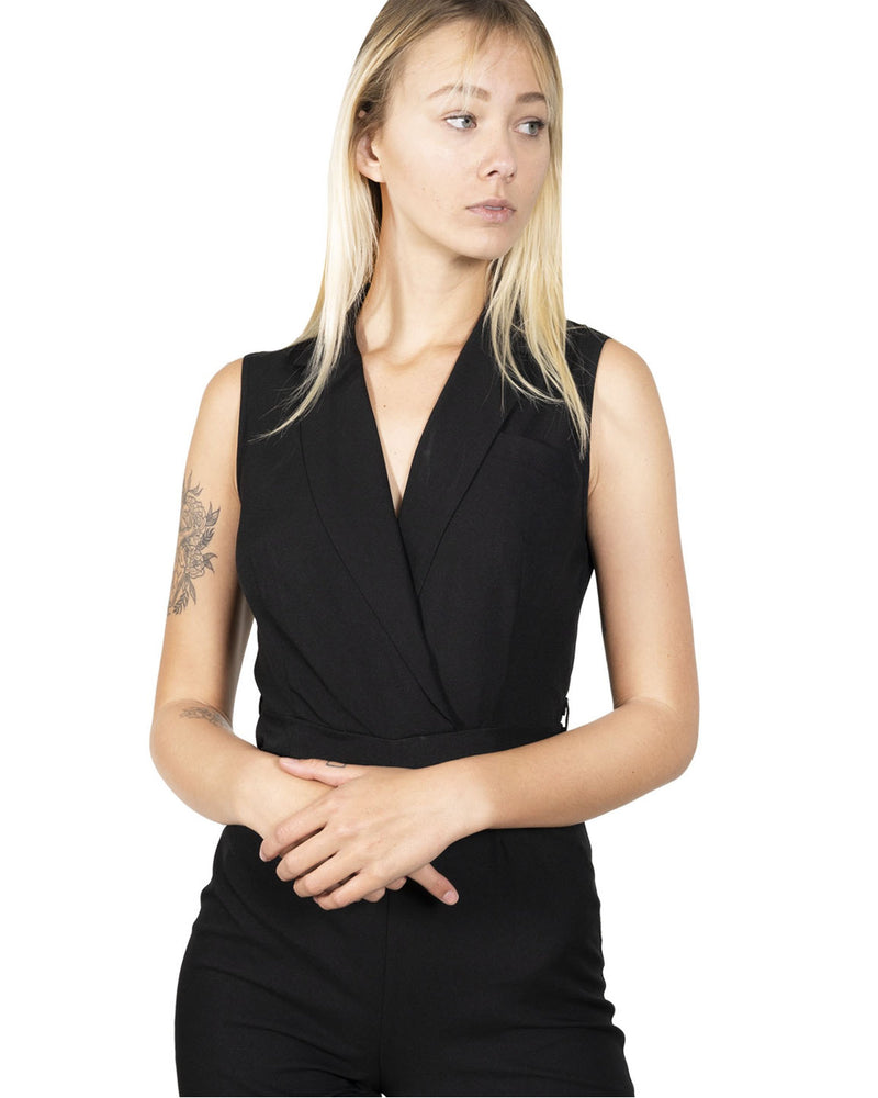 Meow Sleeveless Jumpsuit