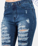 plus size american bazi jeans Ripped Denim