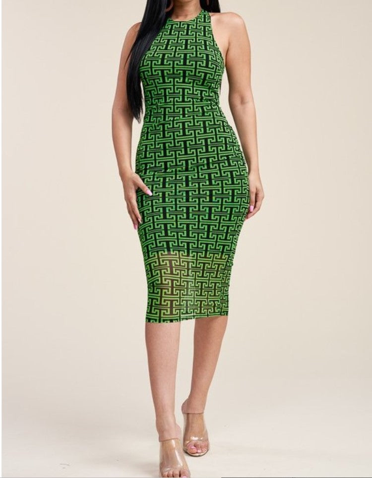 Green Mesh Wild Thoughts Dress