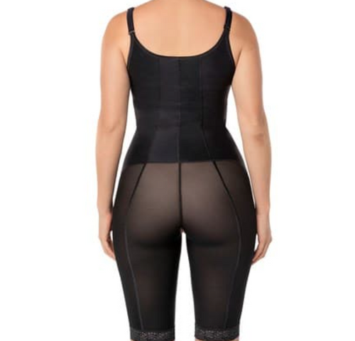Power slimmed mid thigh body shaper