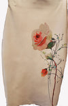 Tan body con skirt with flower