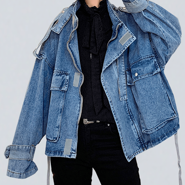 San Bernardino denim jacket (poor pics no product w model)