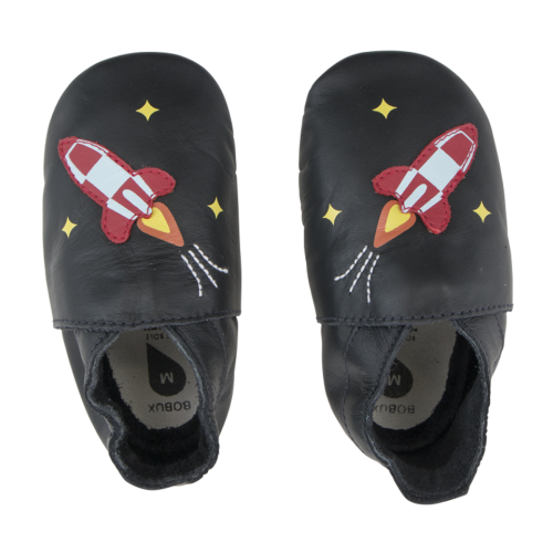 Bobux Soft Sole Black Rocket
