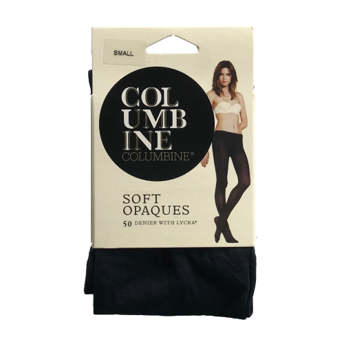 Columbine Soft Opaques 50 Denier Navy Stockings