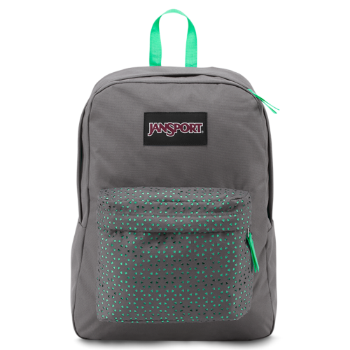 JanSport SuperBreak High Stakes - Shady Grey/Seafoam Laser Lace