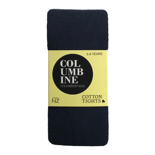 Columbine Navy Kids Cotton Tights
