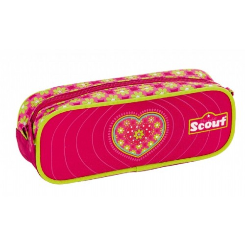 Scout Pencil Case - Pink Heart