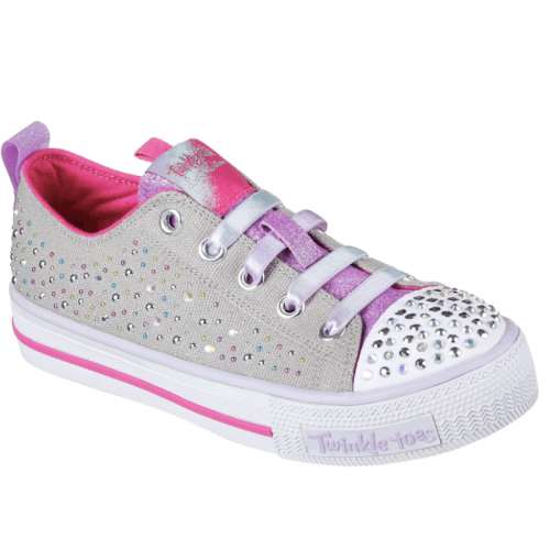 Skechers S Lights: Shuffles - Twirly Toes Charcoal