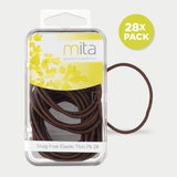 Mita Snag Free Elastics Thin Brown