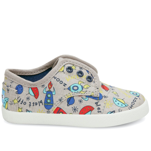 Toms Paseo Grey Canvas Spaceships