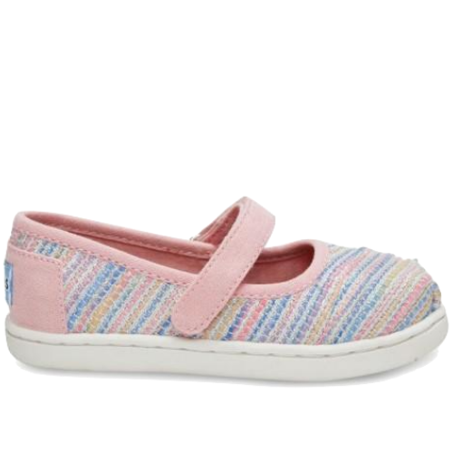 Toms Mary Jane Pink Woven