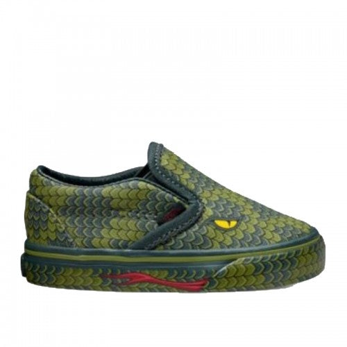Vans Classic Slip On Poison Reptile / Green Lizard (Toddlers)