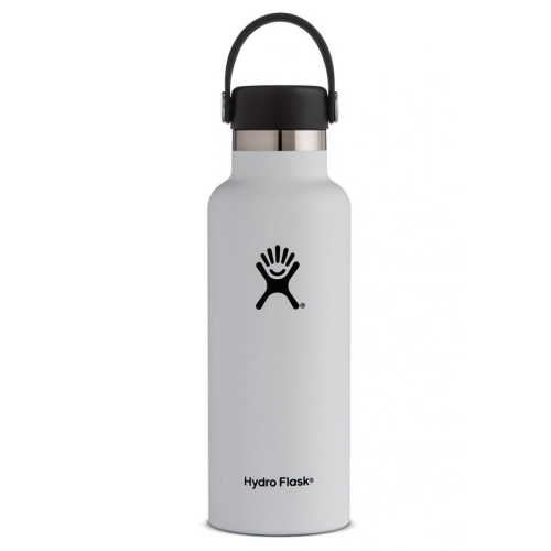 Hydro Flask Standard Mouth 18oz White