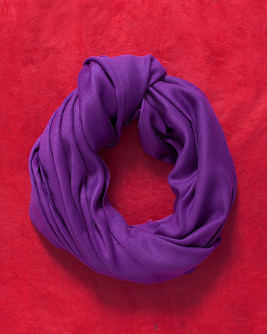 Purple Jewel Toned Silk Scarf