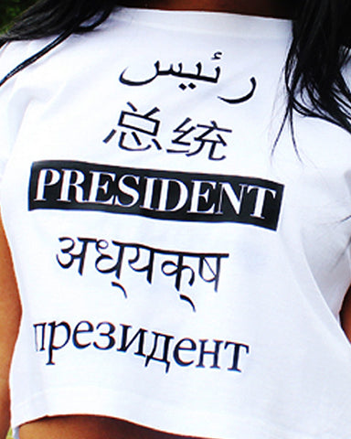Global President Cropped T-Shirt