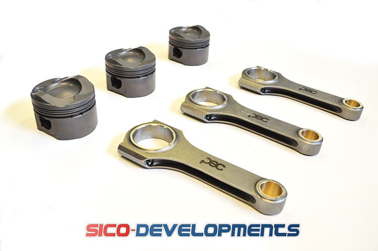 Ford 1.0 Ecoboost Turbo Low Comp PEC Designed Wossner Forged Pistons & PEC Steel Connecting Rod Kit