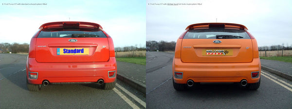 Focus ST Mk2 Milltek Sport Cat Back System available in Non Resonated & Resonated (Quieter)