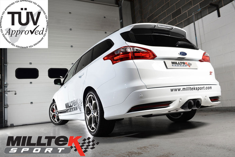 Milltek Cat Back ST250 2 litre Eco Boost 5-Door Estate/Wagon - Resonated 'Quieter' TUV EC Approved