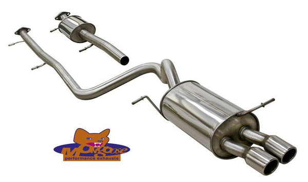 Fiesta MK7 Zetec-S Mongoose cat back exhaust 1.6 litre
