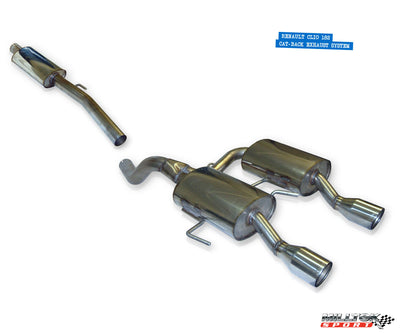 Milltek Exhaust Renault Clio 182 2.0 16v Cat-back with Dual 90mm Jet tailpipe (SSXRN201)